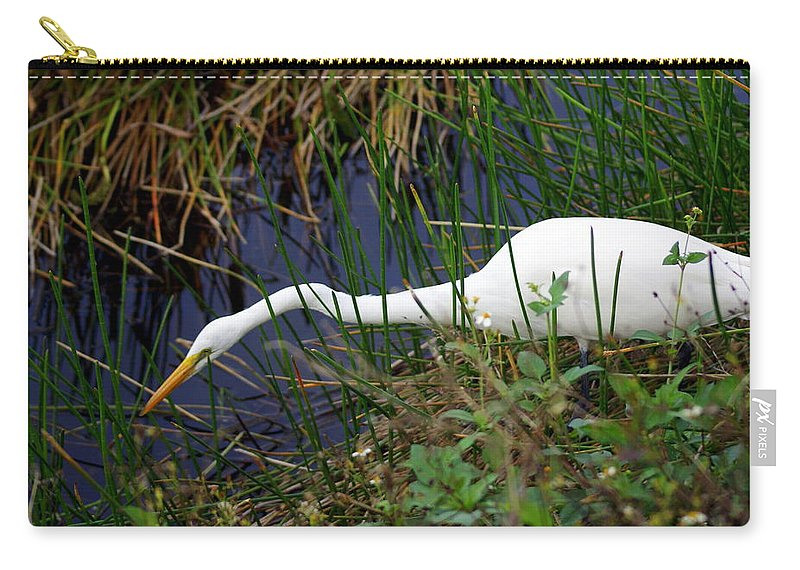 Birds Carry-all Pouch featuring the photograph A Fishing We Will Go by Marty Koch