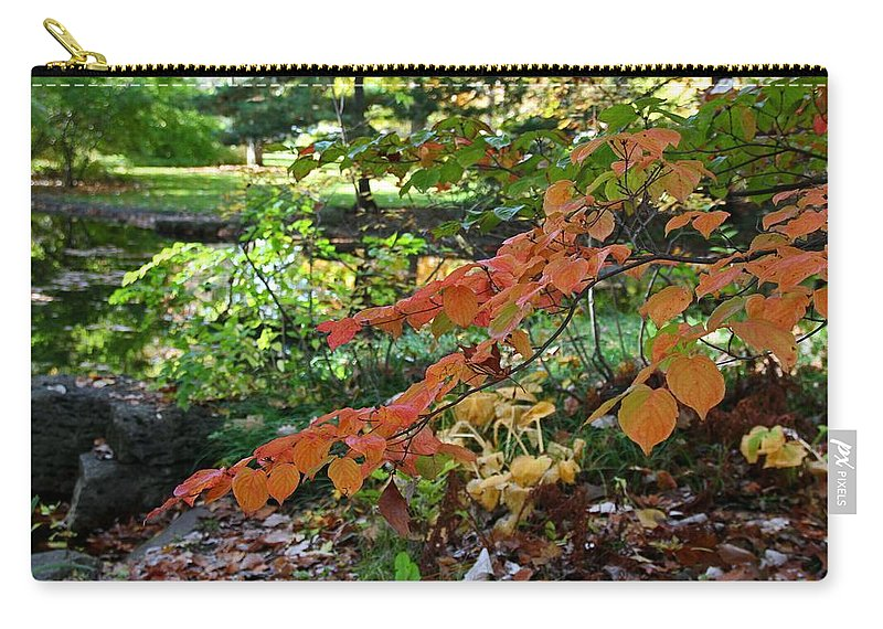 Tree Carry-all Pouch featuring the photograph A Flame In The Forest by Michiale Schneider