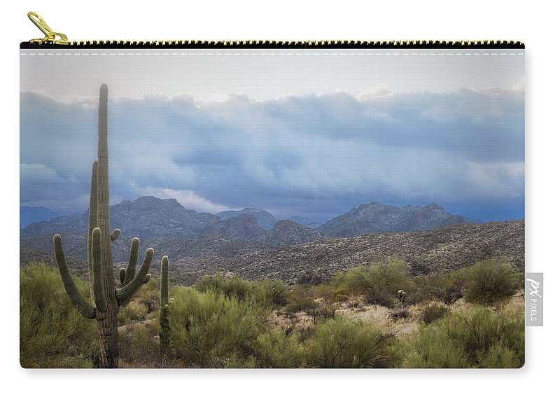 Fog Carry-all Pouch featuring the photograph A Foggy Winter Morning by Saija Lehtonen