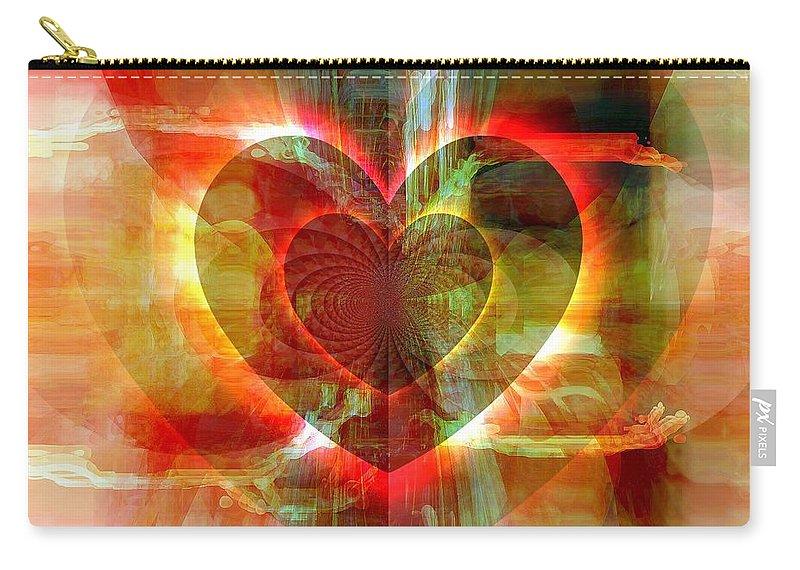 Fania Simon Carry-all Pouch featuring the digital art A Forgiving Heart by Fania Simon