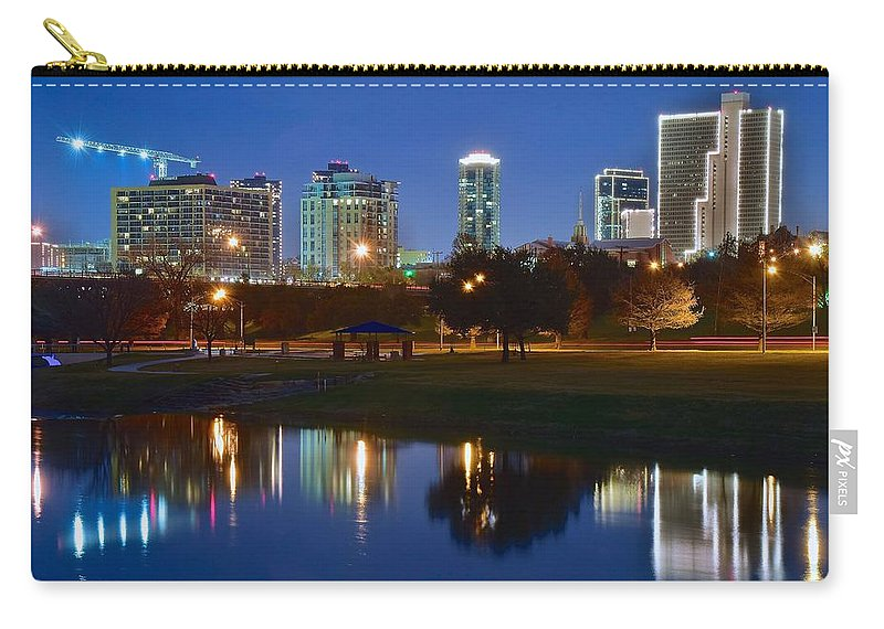 Fort Carry-all Pouch featuring the photograph A Fort Worth Night by Frozen in Time Fine Art Photography