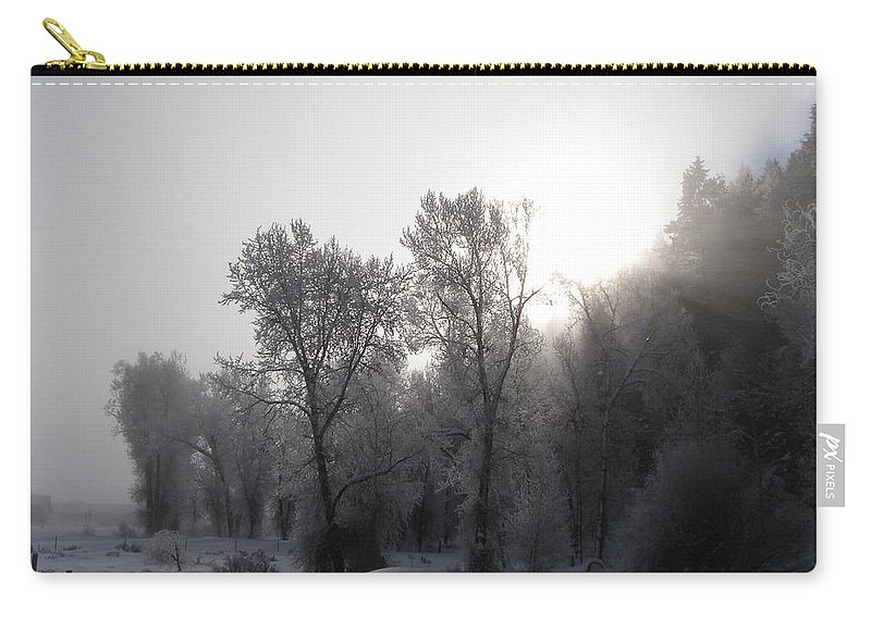 Winter Carry-all Pouch featuring the photograph A Frosty Morning by DeeLon Merritt
