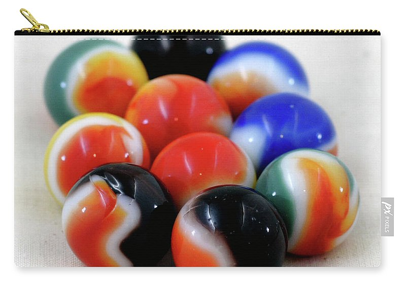Antique Carry-all Pouch featuring the photograph A Fun Game Of Marbles by Alan Look