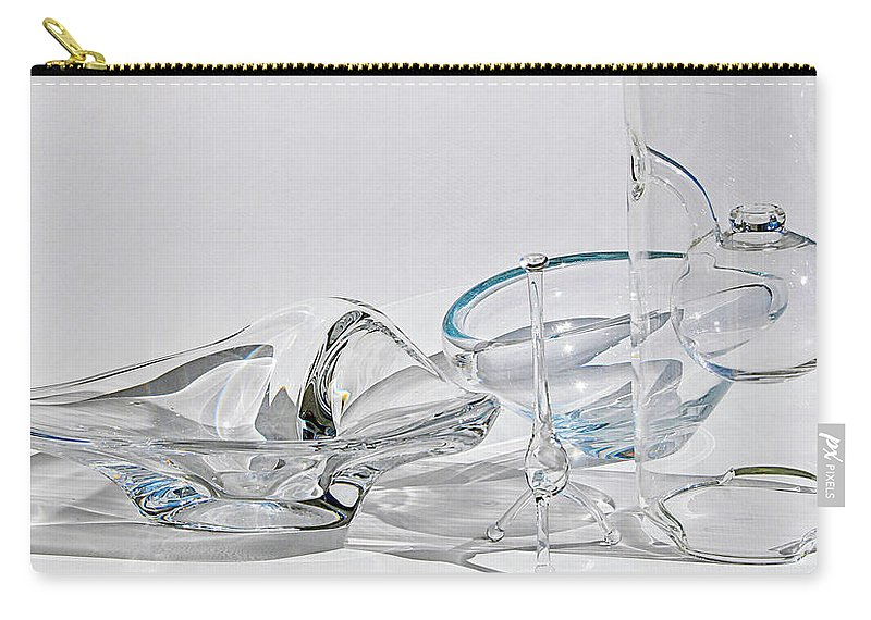 Sculpture Carry-all Pouch featuring the digital art A Glass Menagerie by Gene Norris
