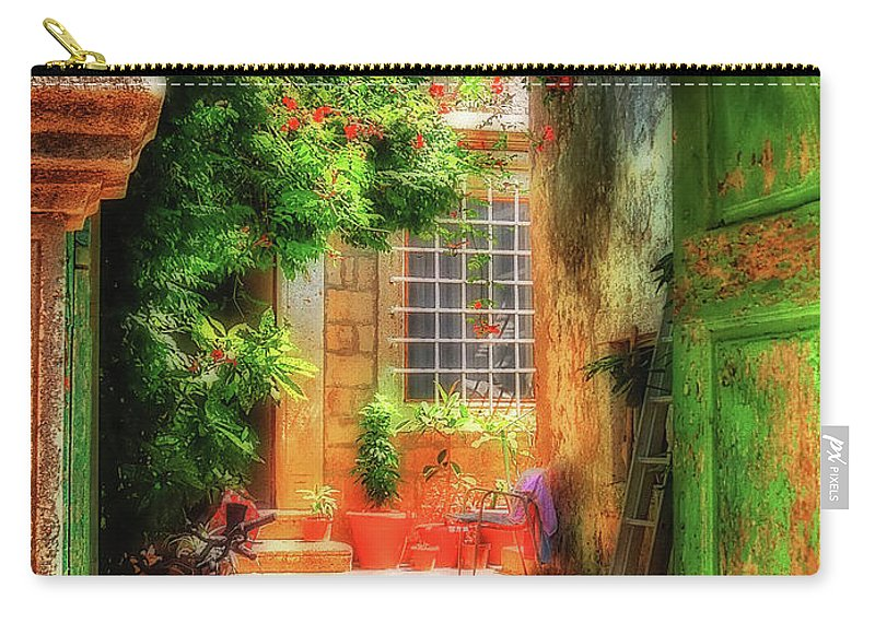 Doorway Carry-all Pouch featuring the photograph A Glimpse by Lois Bryan