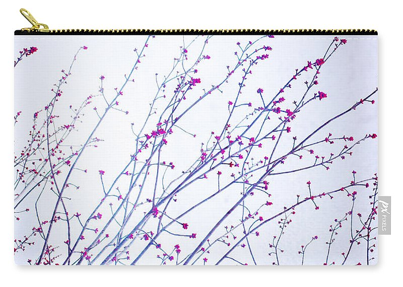 Branches Carry-all Pouch featuring the photograph A Glimpse Of Colour by Tara Turner
