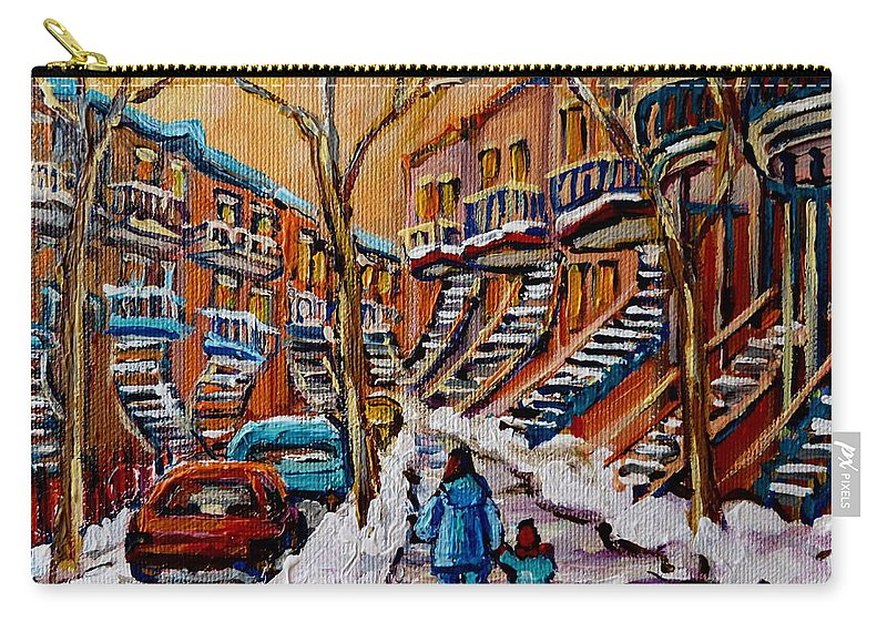 Montreal Carry-all Pouch featuring the painting A Glorious Day by Carole Spandau