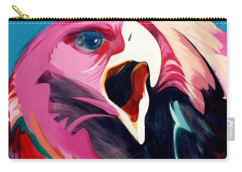 Raptor Carry-all Pouch featuring the painting A Golden Mantles by Marlene Burns