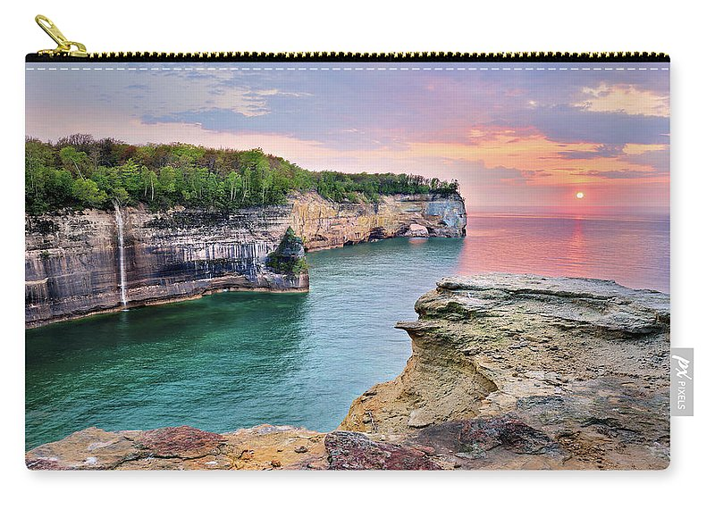 Cliffs Carry-all Pouch featuring the photograph A Grand Portal by Tim Trombley