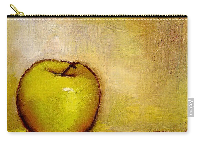 Still Life Carry-all Pouch featuring the painting A Green Apple by Bob Kimball