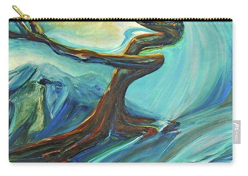 Landscape Carry-all Pouch featuring the painting A Healing Earth by Jennifer Christenson