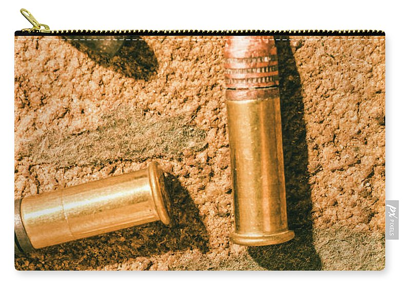 Gun Carry-all Pouch featuring the photograph A Higher Calibre by Jorgo Photography - Wall Art Gallery