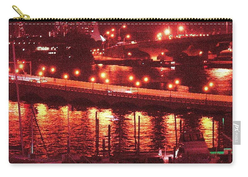 Biscayne Bay Carry-all Pouch featuring the photograph A Hot Night On Biscayne Bay by Margaret Bobb