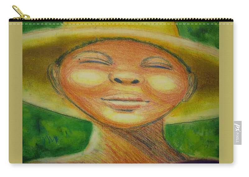 Drawing Carry-all Pouch featuring the drawing A Hot Summer Day by Jan Gilmore