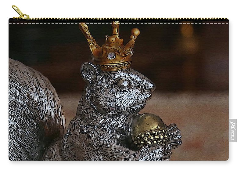 Squirrel Carry-all Pouch featuring the photograph A King For A Day by Yvonne Wright