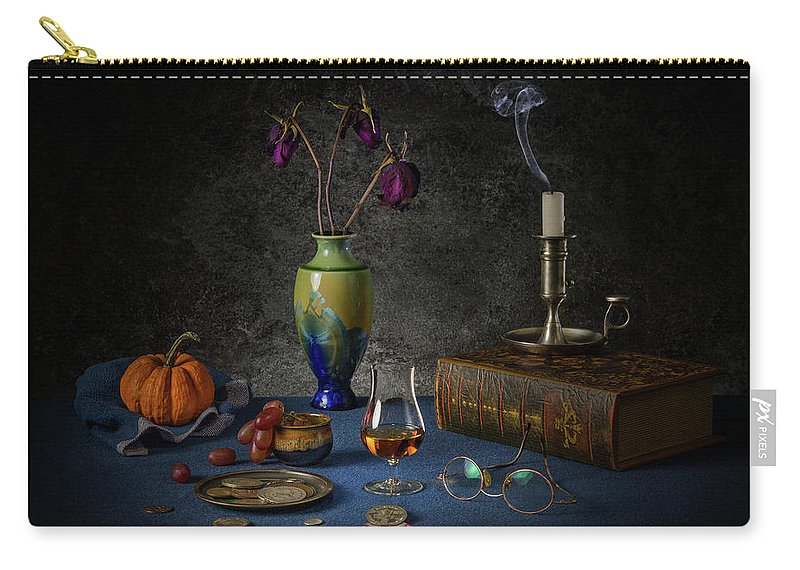 Alcool Carry-all Pouch featuring the photograph A Last Brandy by Yves Keroack