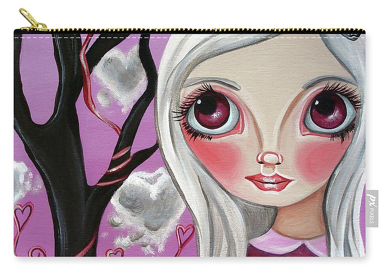 Art Carry-all Pouch featuring the painting A Letter From My Valentine by Jaz Higgins