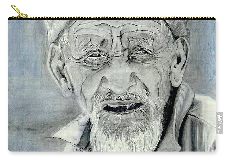 Figurative Art Carry-all Pouch featuring the painting A Life Time by Portraits By NC