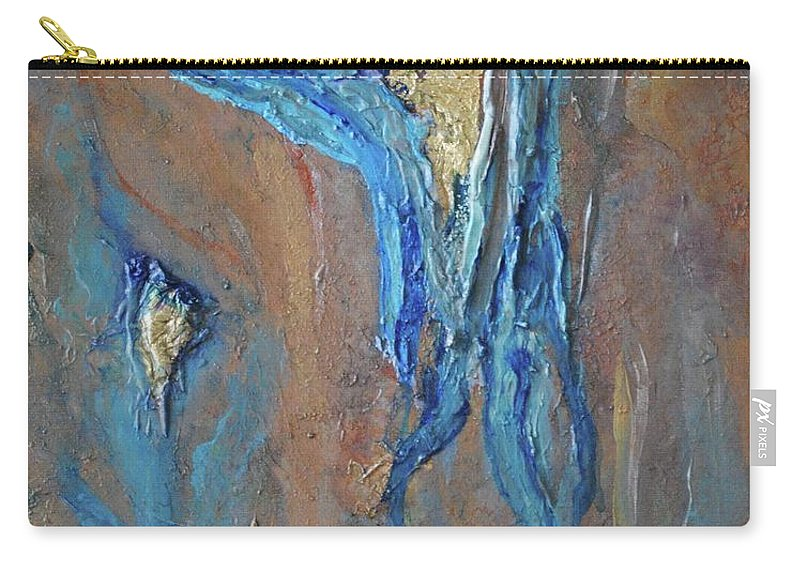 Acrylic Carry-all Pouch featuring the painting A Light Between by Margaret Fronimos