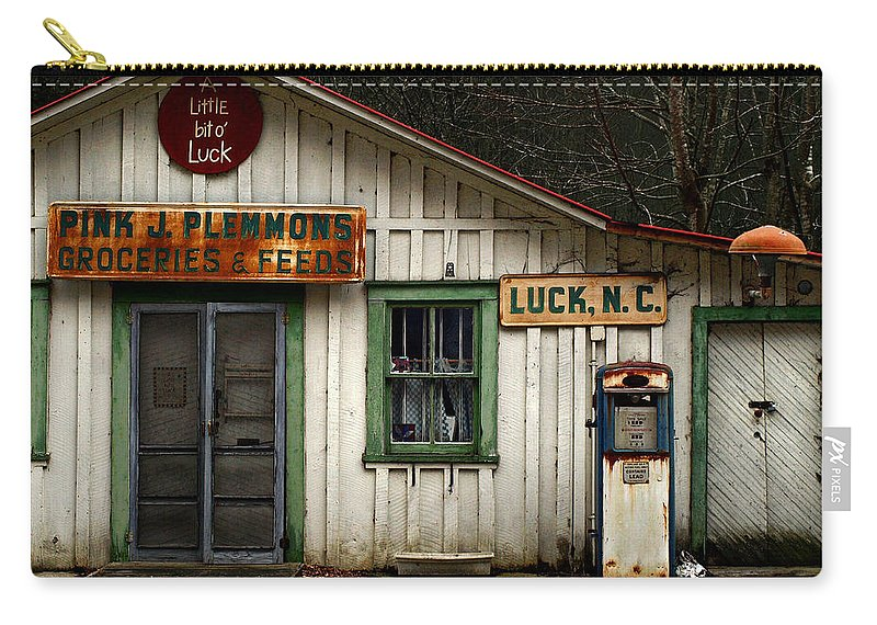 Americana Carry-all Pouch featuring the photograph A Little Bit Of Luck by J K York