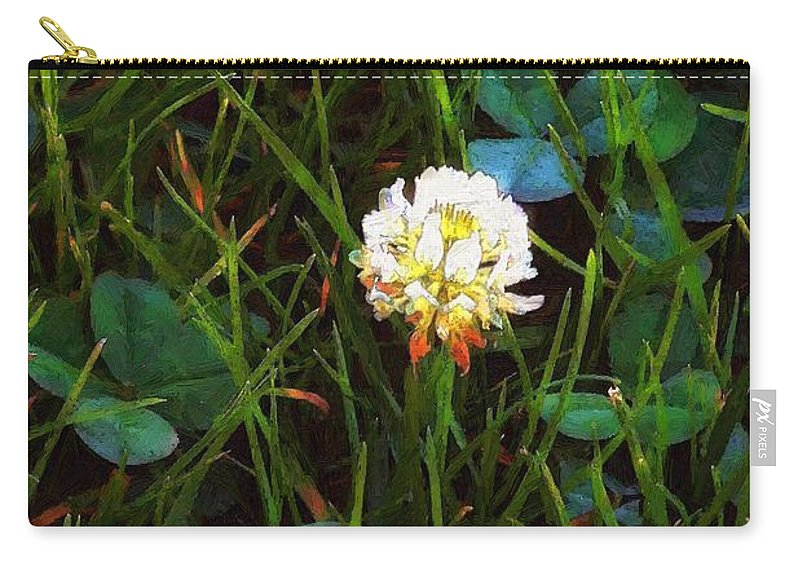 Clover Carry-all Pouch featuring the painting A Little Bit Of Luck by RC DeWinter