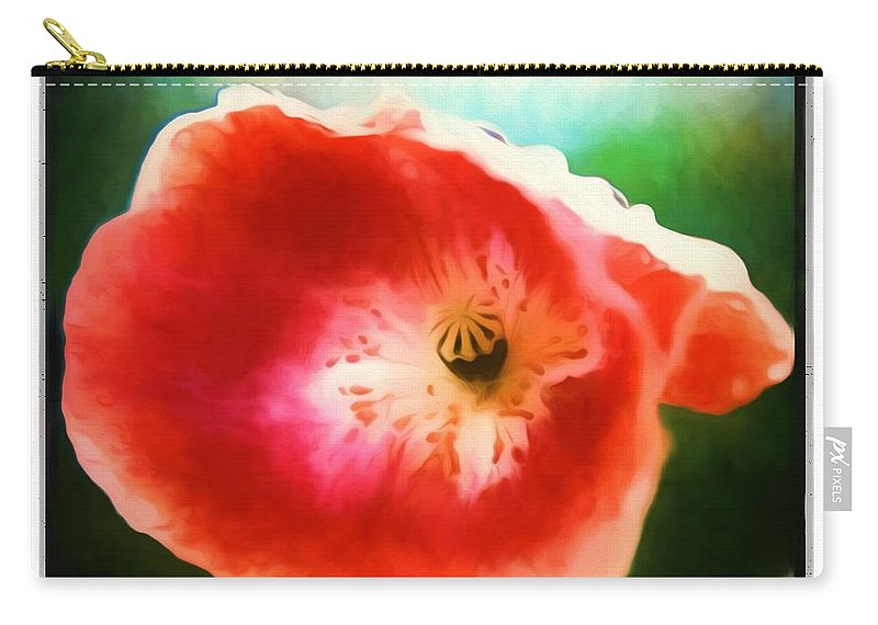 Flower Carry-all Pouch featuring the photograph A Little Bit Orchid by Debra Lynch