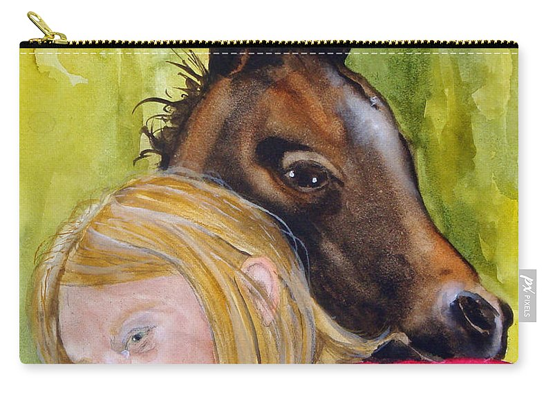 Equine Carry-all Pouch featuring the painting A Little Girl's Fancy by Jean Blackmer