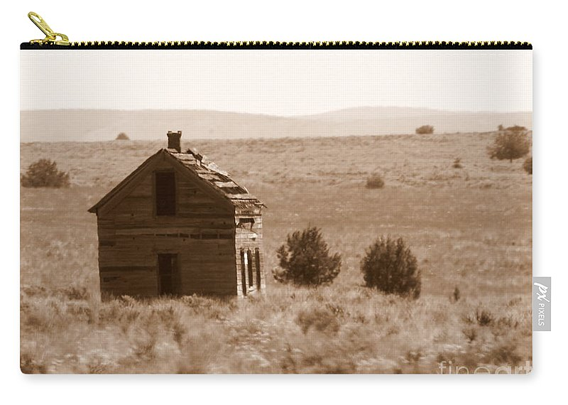 Old Shack Carry-all Pouch featuring the photograph A Little Isolated by Carol Groenen