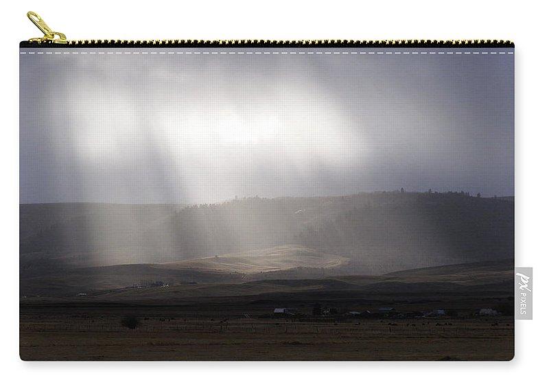 Sun Carry-all Pouch featuring the photograph A Little Sun Must Shine by DeeLon Merritt