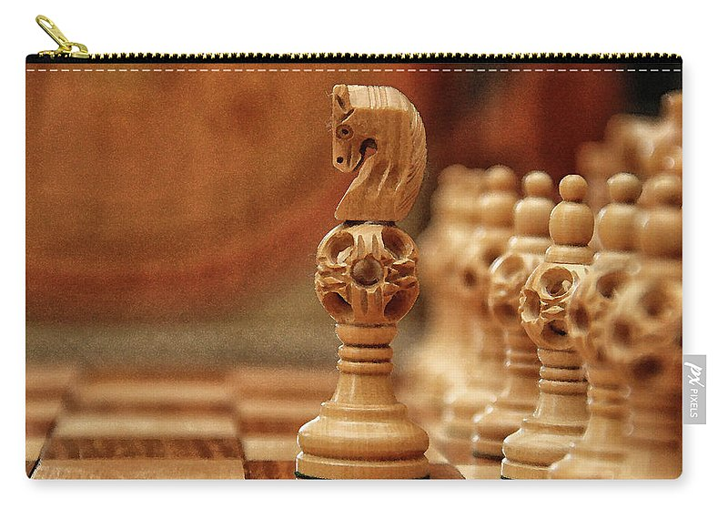 Board Carry-all Pouch featuring the digital art A Lone Knight by Sandeep Gangadharan