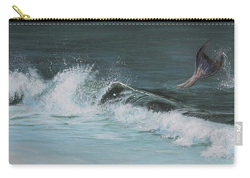 Mermaid I Carry-all Pouch featuring the painting A Magical Moment by Patty Moramarco
