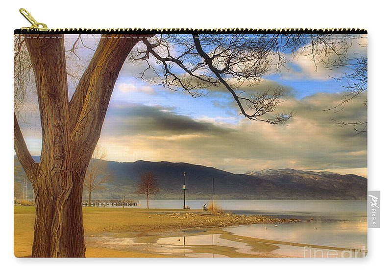 Okanagan Carry-all Pouch featuring the photograph A March Morning by Tara Turner