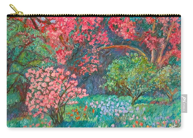 Landscape Carry-all Pouch featuring the painting A Memory by Kendall Kessler