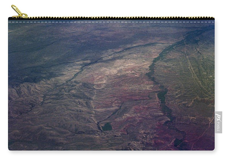 Aerial Photography Carry-all Pouch featuring the photograph A Midwestern Landscape by Richard Rizzo