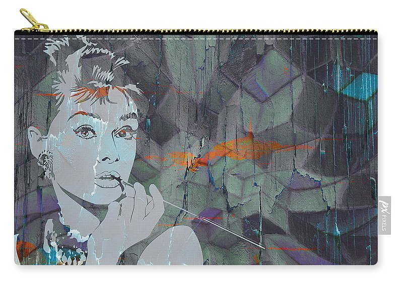 Artwork Carry-all Pouch featuring the digital art A Modern Breakfast Girl by Nicci Frescamente