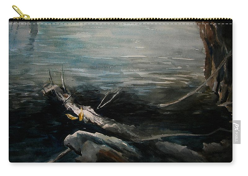 Landscape Carry-all Pouch featuring the painting A Moment In Time by Rachel Christine Nowicki