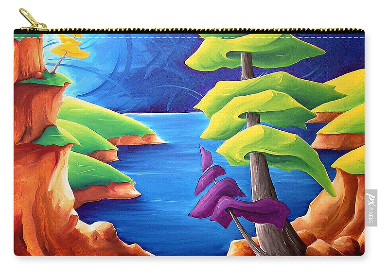 Landscape Carry-all Pouch featuring the painting A Moment In Time by Richard Hoedl