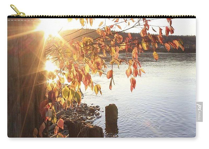 Sun Carry-all Pouch featuring the photograph A Moment Of Pause by Alanna DPhoto
