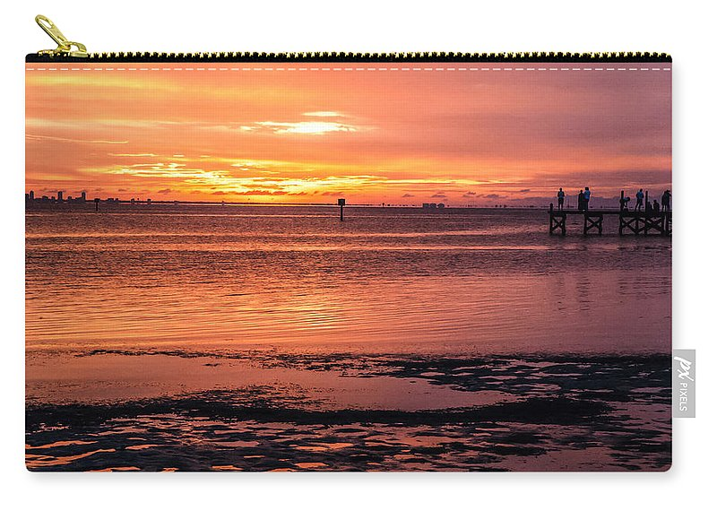 Sunset Carry-all Pouch featuring the photograph A Moment To Enjoy by Norman Johnson