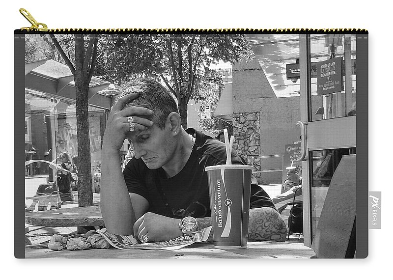 Man Carry-all Pouch featuring the photograph A Moment's Rest by Stuart Matthews