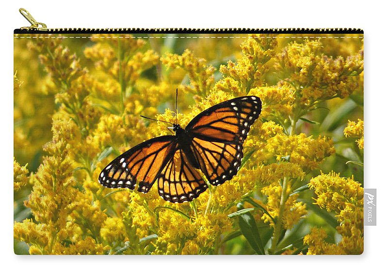 Butterfly Carry-all Pouch featuring the photograph A Monarch World by Scott Ward