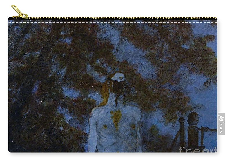 Blue Carry-all Pouch featuring the painting A Most Unfortunate Year by Wess Loudenslager