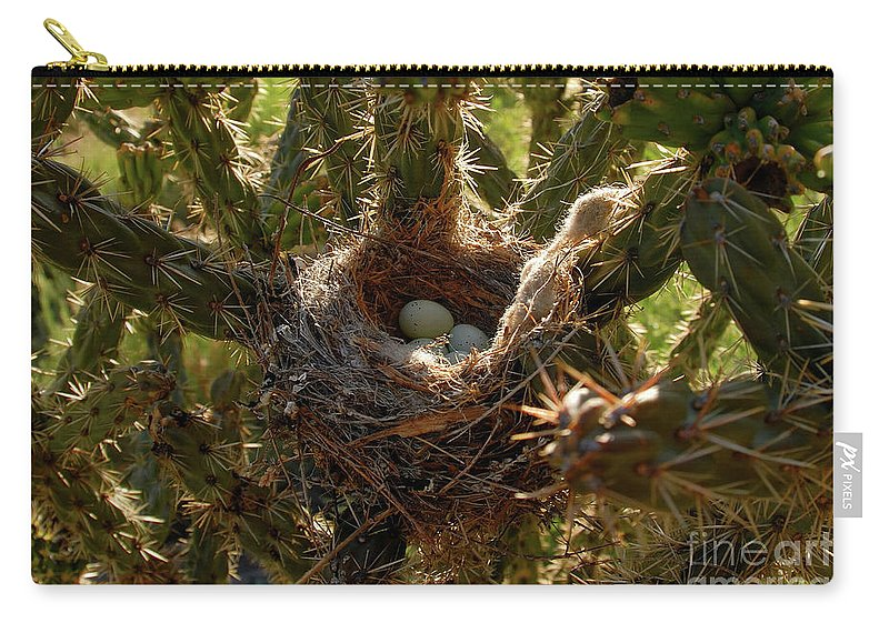 Fine Art Photography Carry-all Pouch featuring the photograph A Mothers Protection by David Lee Thompson