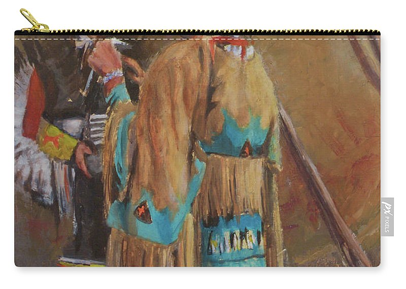 Mothers Carry-all Pouch featuring the painting A Mother's Touch by Mia DeLode