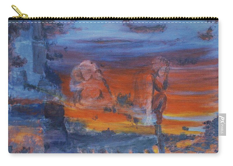 Abstract Carry-all Pouch featuring the painting A Mystery Of Gods by Steve Karol