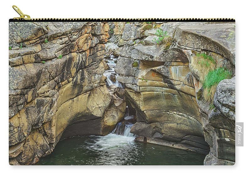 Grotto Carry-all Pouch featuring the photograph A Natatorium By The Cliff by Bijan Pirnia