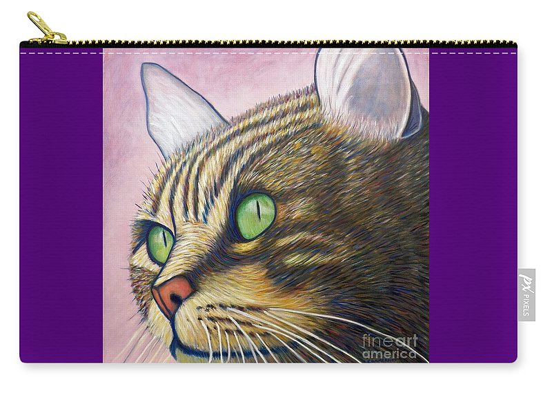 Cat Carry-all Pouch featuring the painting A New Day by Brian Commerford
