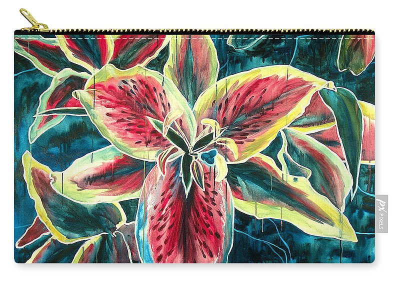 Floral Painting Carry-all Pouch featuring the painting A New Day by Jennifer McDuffie