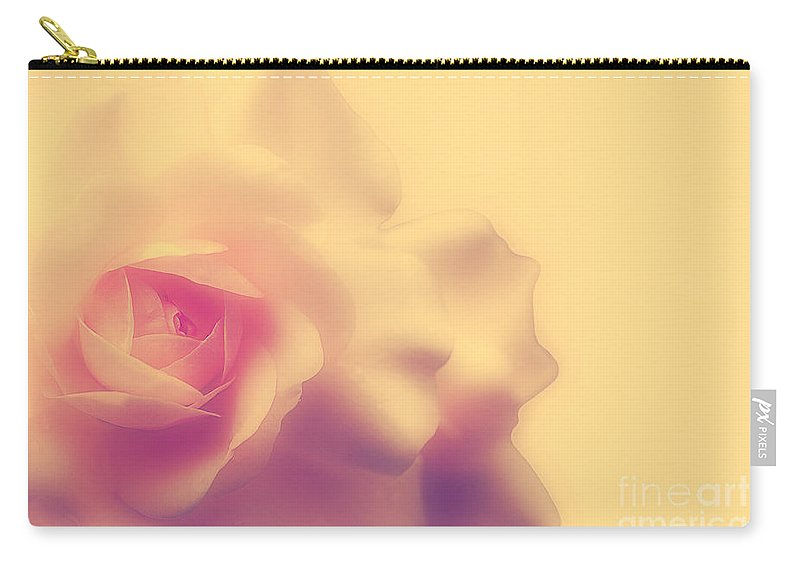 Rose Carry-all Pouch featuring the photograph A New Day by Lois Bryan