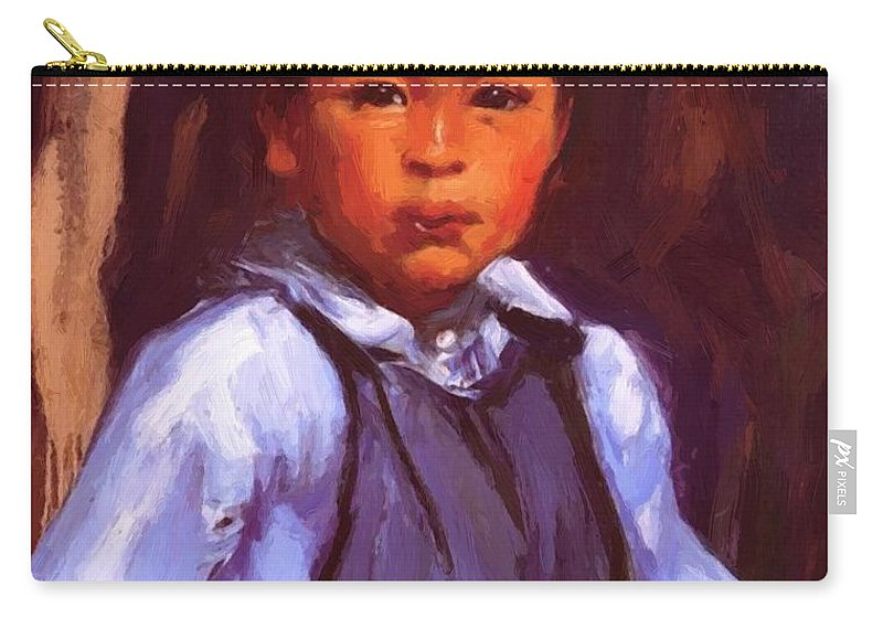 A Carry-all Pouch featuring the painting A New Mexico Boy 1916 by Henri Robert